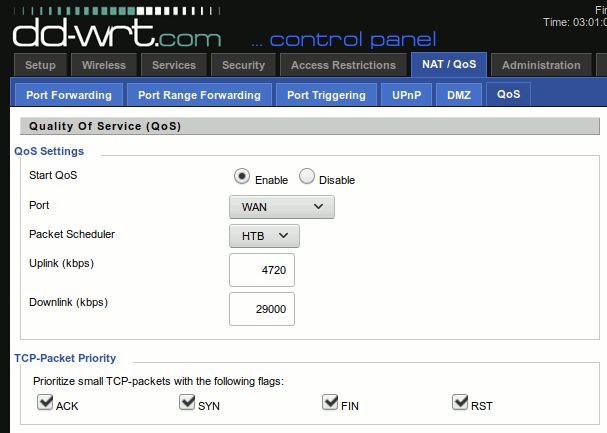 DD-WRT settings